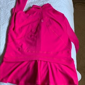 Lululemon zip up jacket size 12, beautiful pink